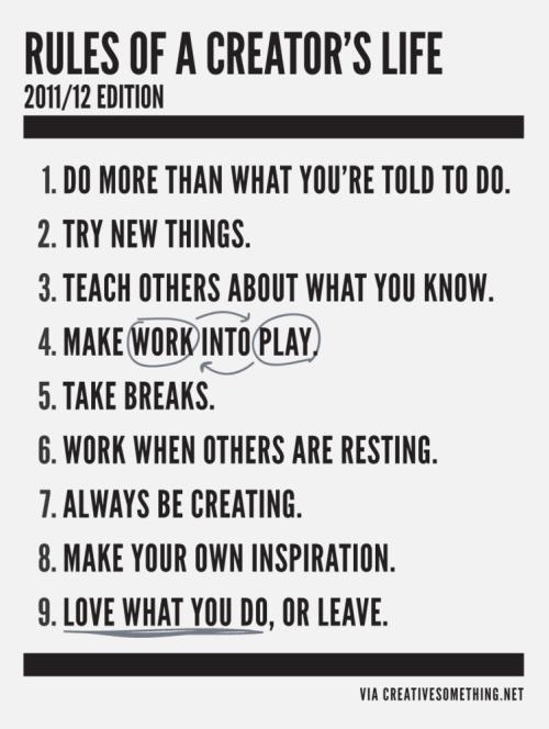 Rules-of-creators-life